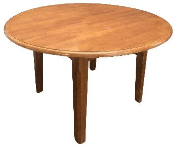 Cherry Wood Round Dining Table