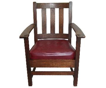 Charles P. Limbert Antique Mission Oak Arm Chair