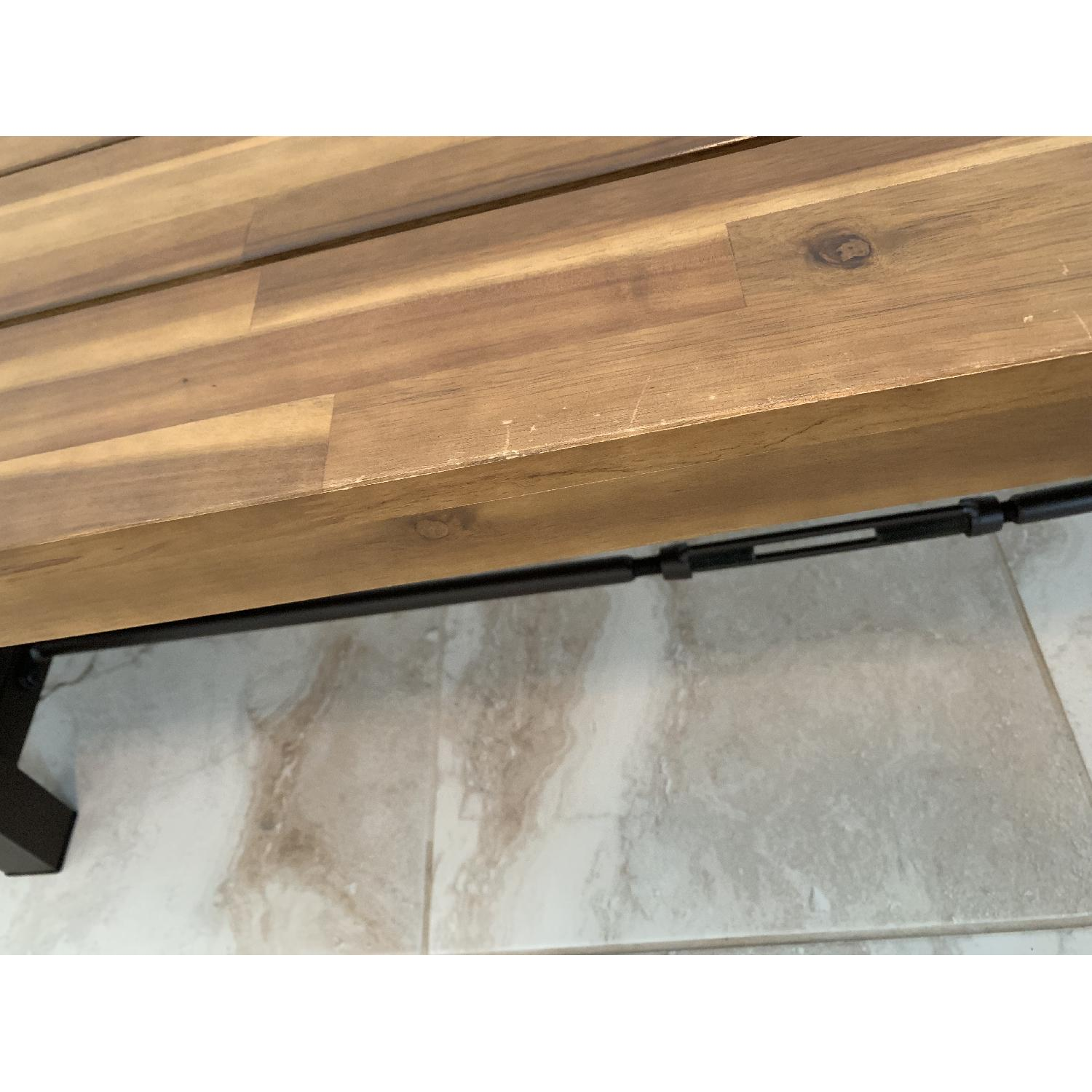 Industrial Style Wood Bench-3