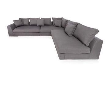 Wade Logan Gray 3-Piece Sectional Sofa