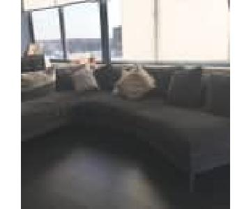 Room & Board 3 Piece Upholstered Sectional Sofa
