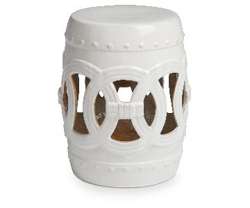 White Moroccan Stool