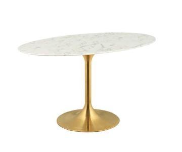 LexMod Lippa Tulip Oval Dining Table