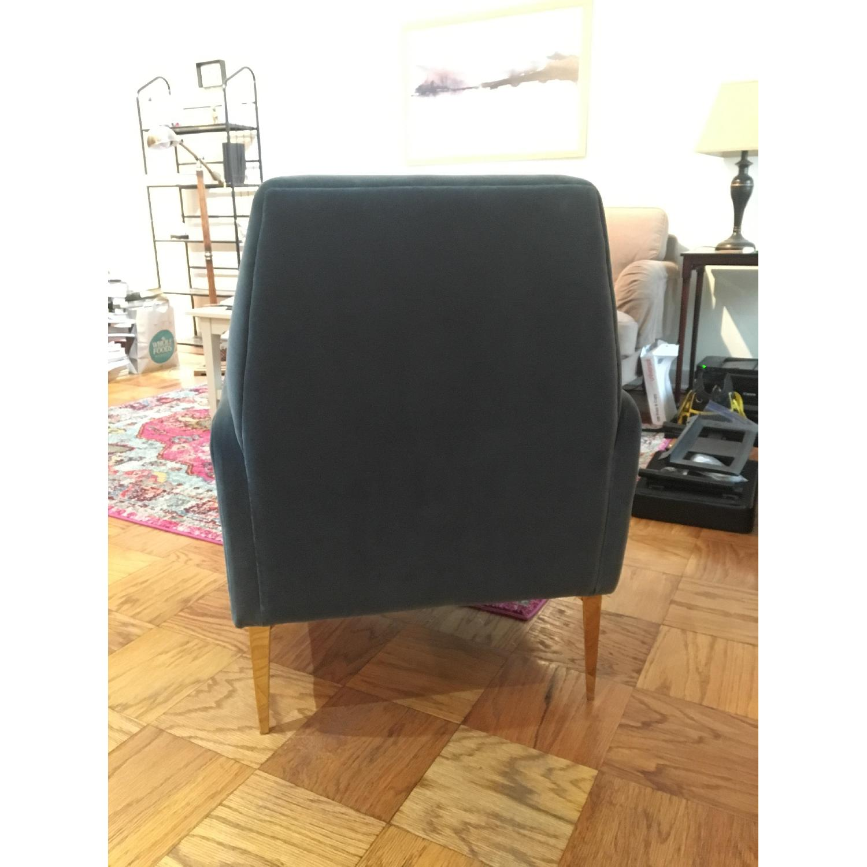 West Elm Teal Velvet Chair-3
