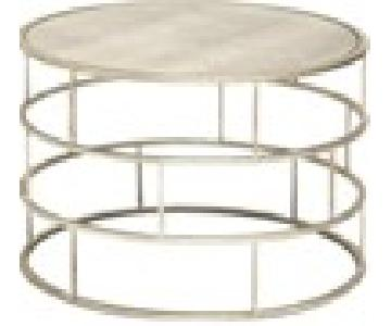 Modern Round Mirrored End Tables