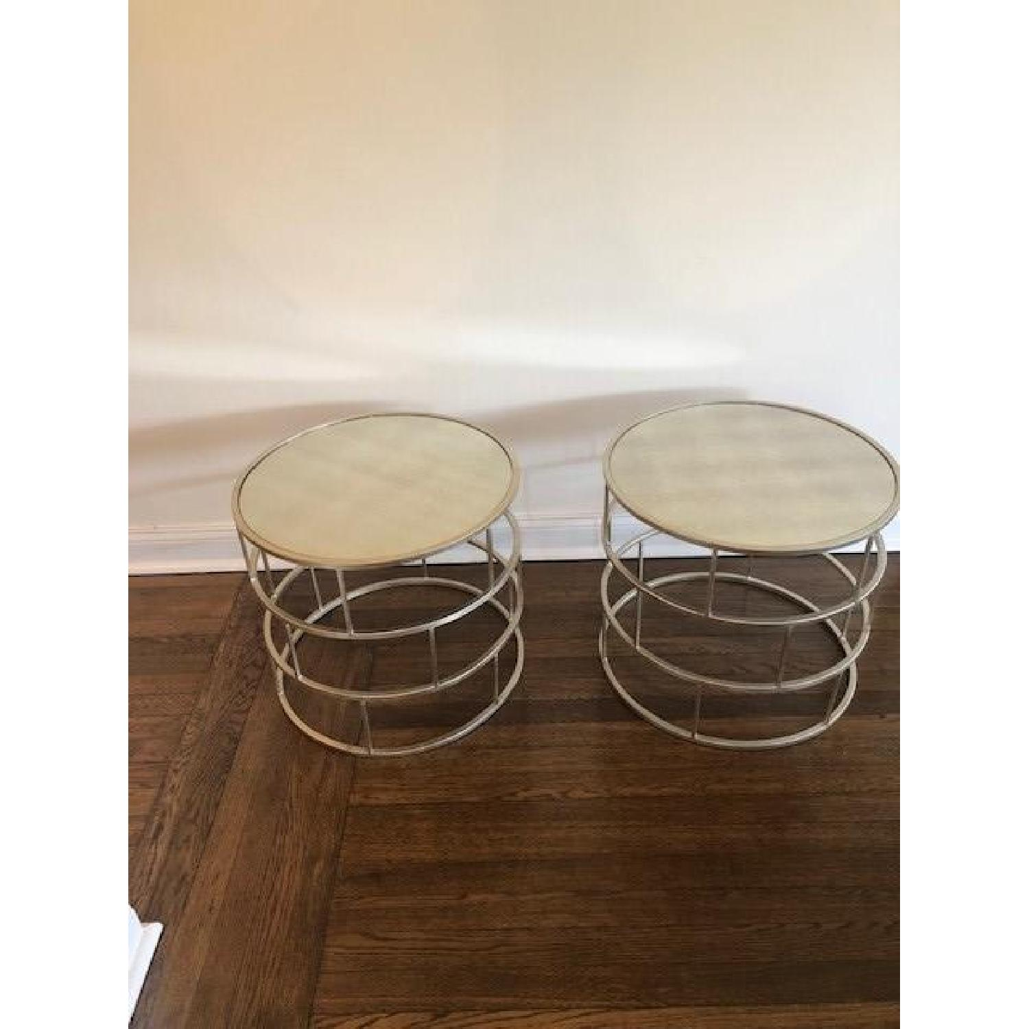 Modern Round Mirrored End Tables-2
