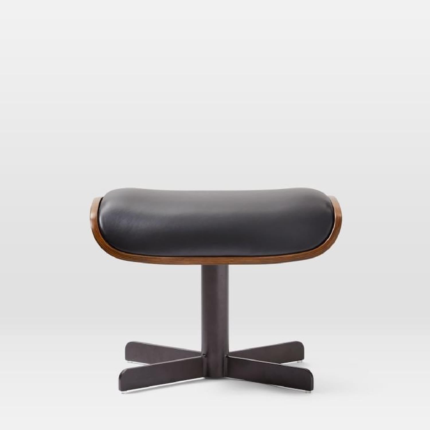 West Elm Malcolm Bent Ply Leather Ottoman-1