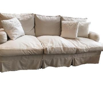 George Smith 3 Seater Slipcovered Sofa