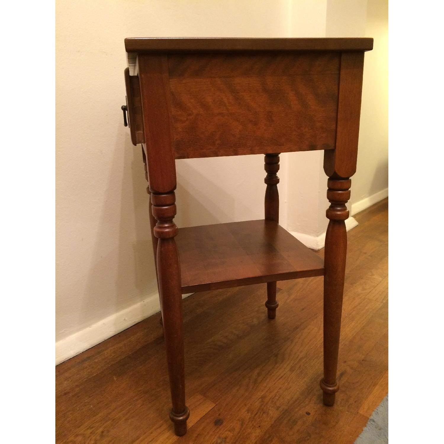 Ethan Allen Vintage Solid Wood Small Table w/ Drawer-2