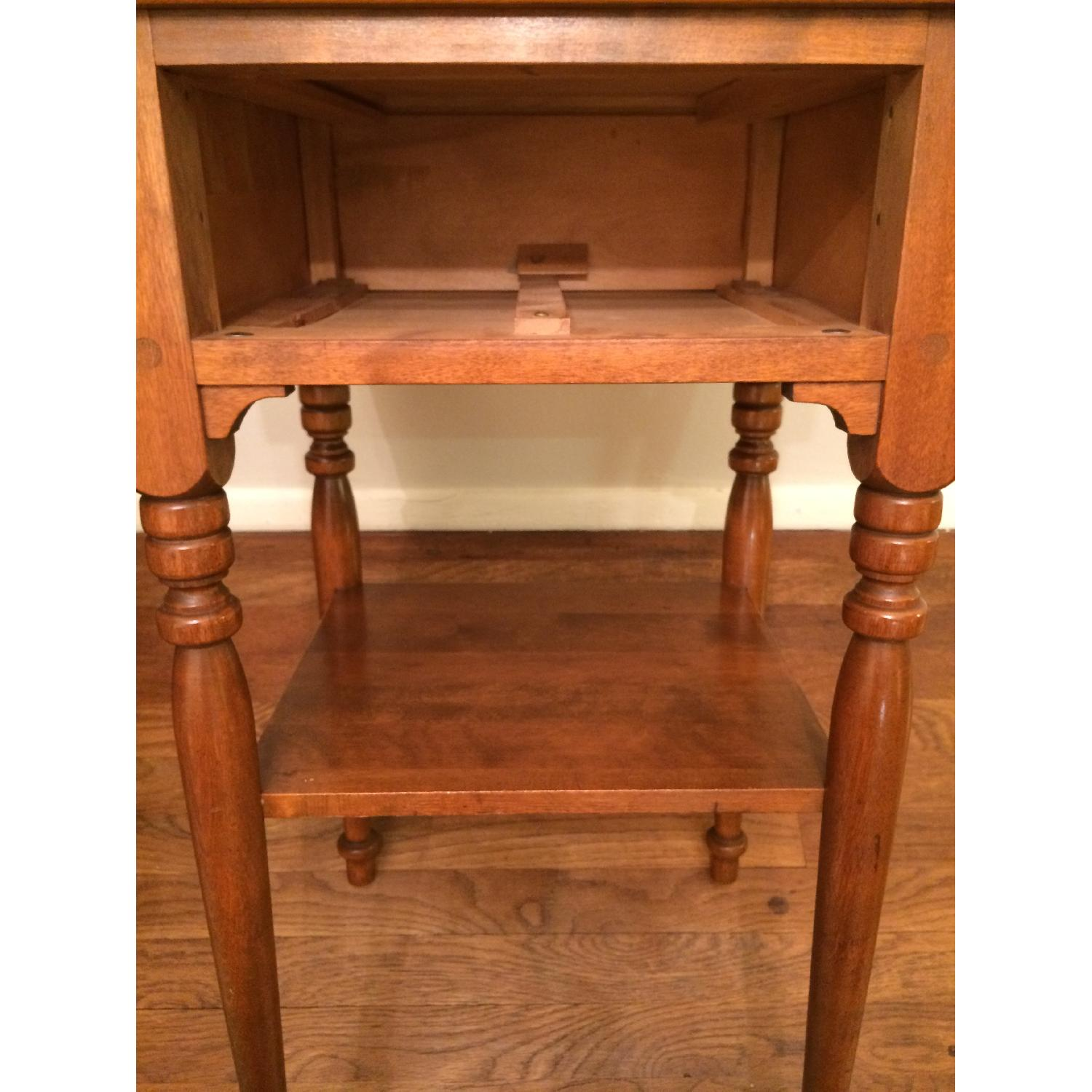 Ethan Allen Vintage Solid Wood Small Table w/ Drawer-4