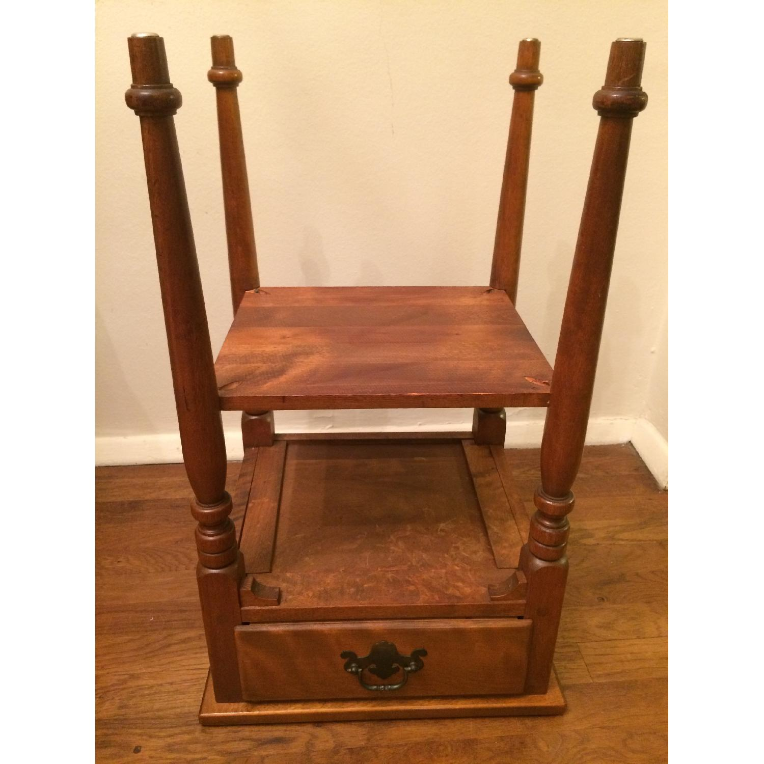 Ethan Allen Vintage Solid Wood Small Table w/ Drawer-6