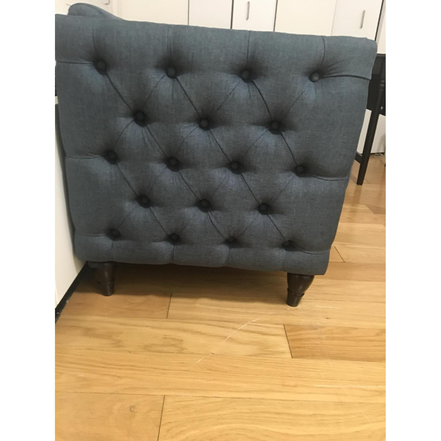 GDF Studio Tufted Gray/Blue Accent Chair-1