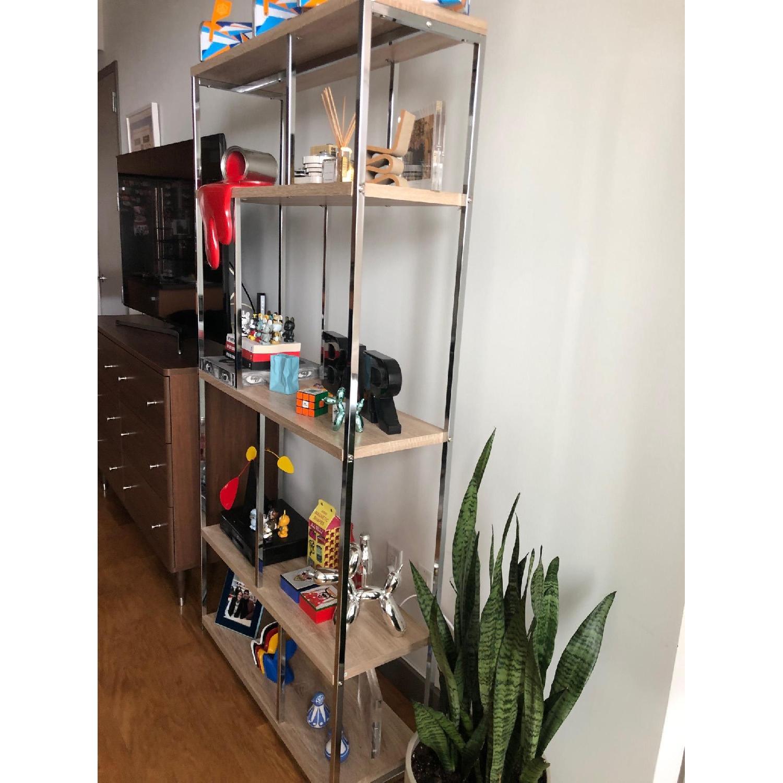 Monarch Furniture Chrome Metal Bookcase-1
