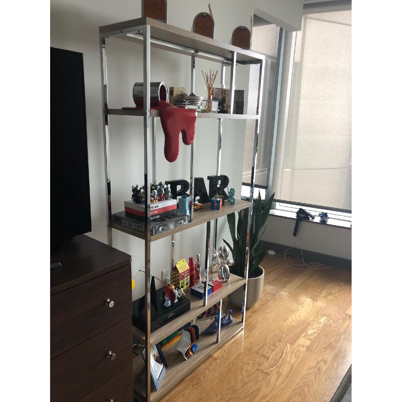 Monarch Furniture Chrome Metal Bookcase-2
