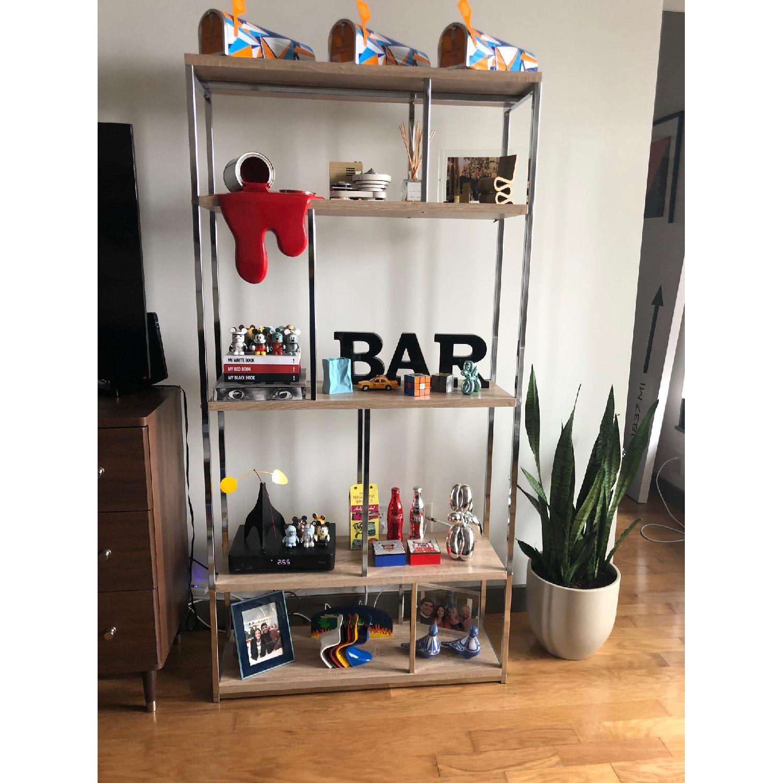 Monarch Furniture Chrome Metal Bookcase-3