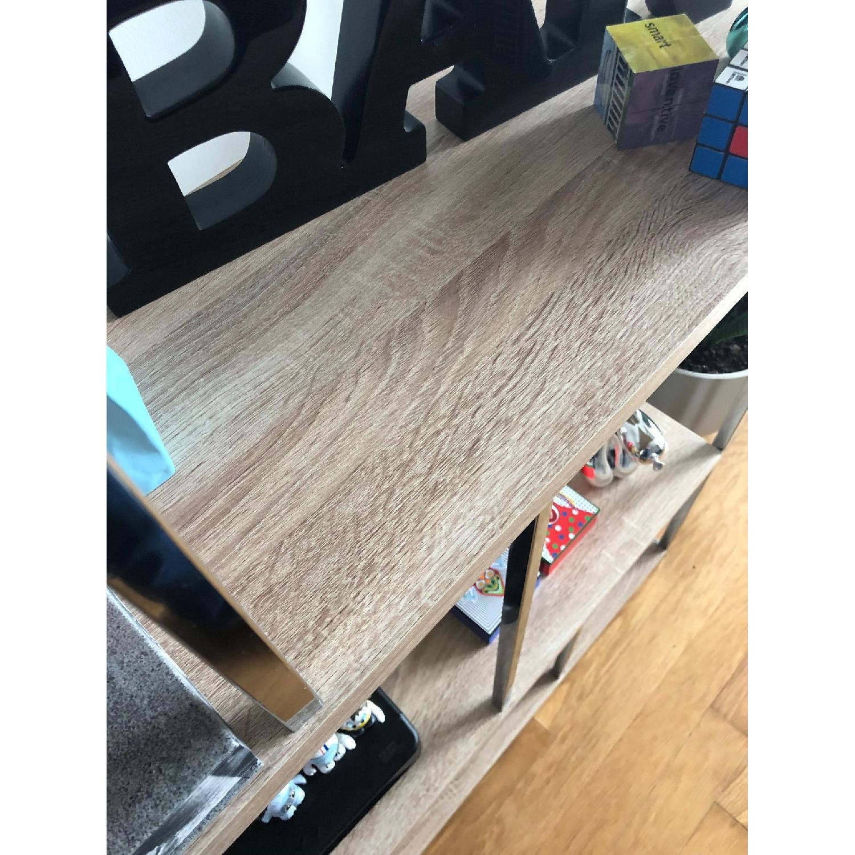 Monarch Furniture Chrome Metal Bookcase-4
