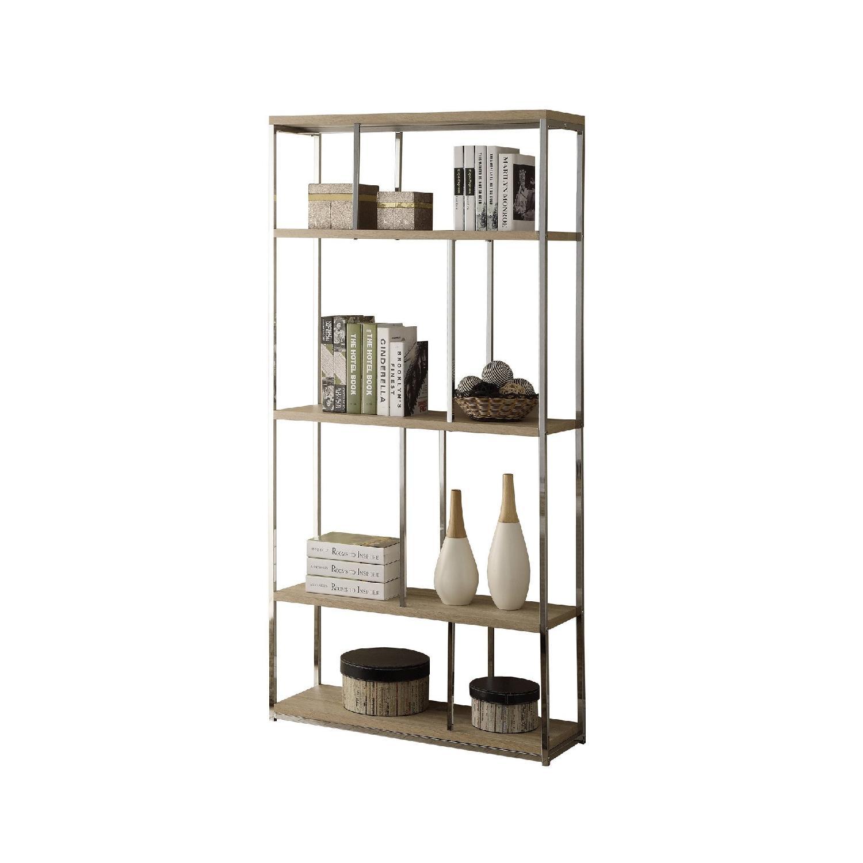 Monarch Furniture Chrome Metal Bookcase