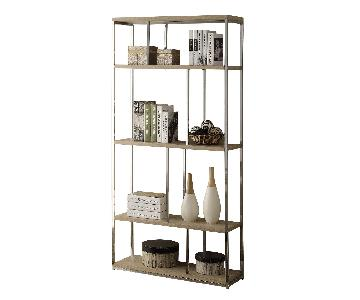 Monarch Furniture Chrome Metal Bookcase