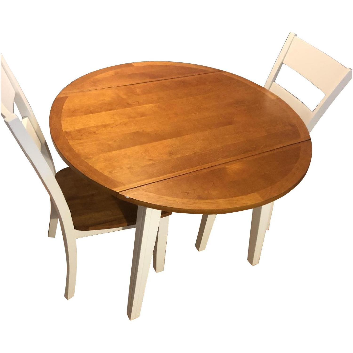 Bob's White & Oak Table w/ 2 Chairs