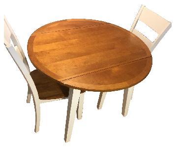 Bob's White & Oak Table w/ 2 Chairs