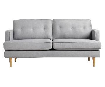World Market Light Gray/Blue Sofa