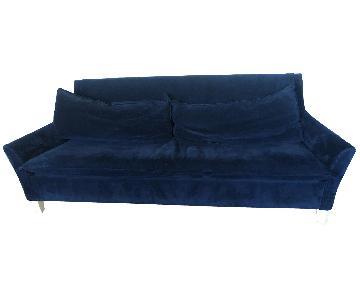 Pottery Barn Velvet Sleeper Sofa