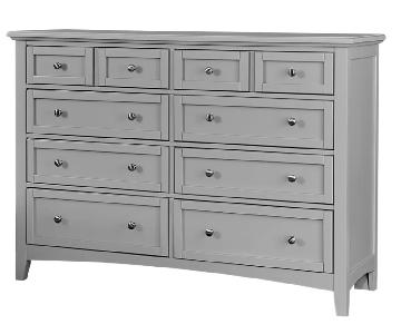 8-Drawer Double Dresser in Urban Gray
