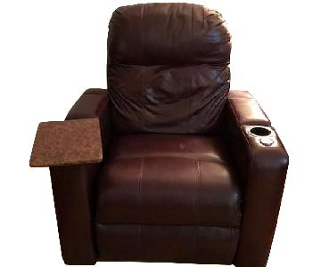 Brown Leather Power Recliner