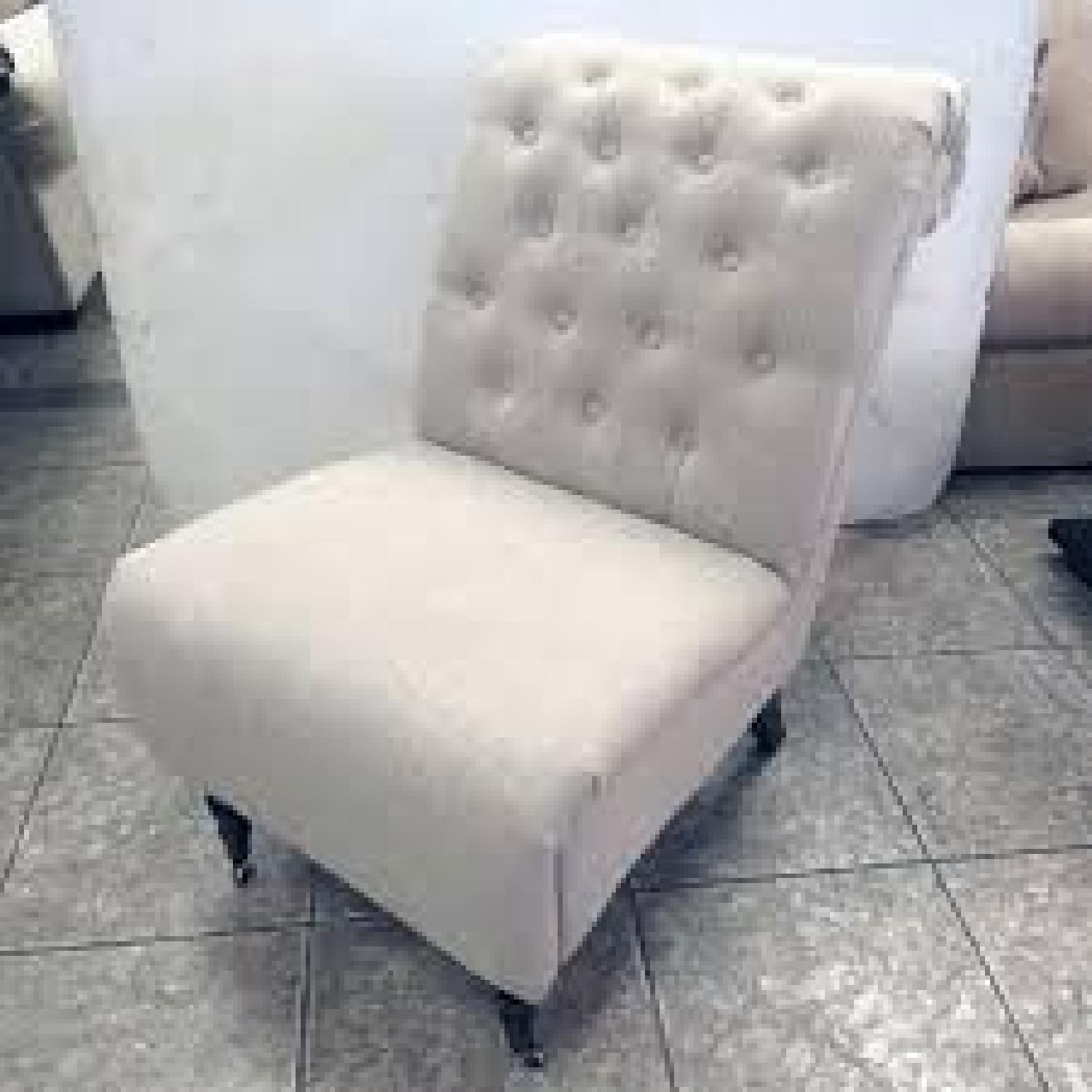 Steven Rhoades Linen Tufted Accent Chairs-1