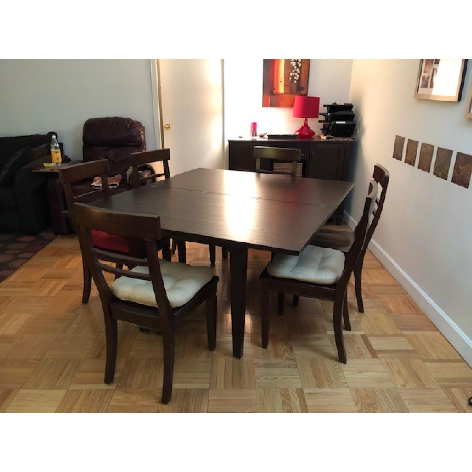 Crate & Barrel Table w/ 6 Chairs-1