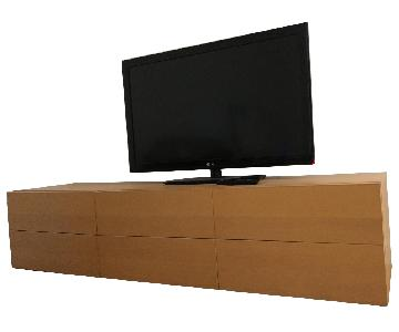 Hon Voi Wood Laminate 6 Drawer Low Credenza