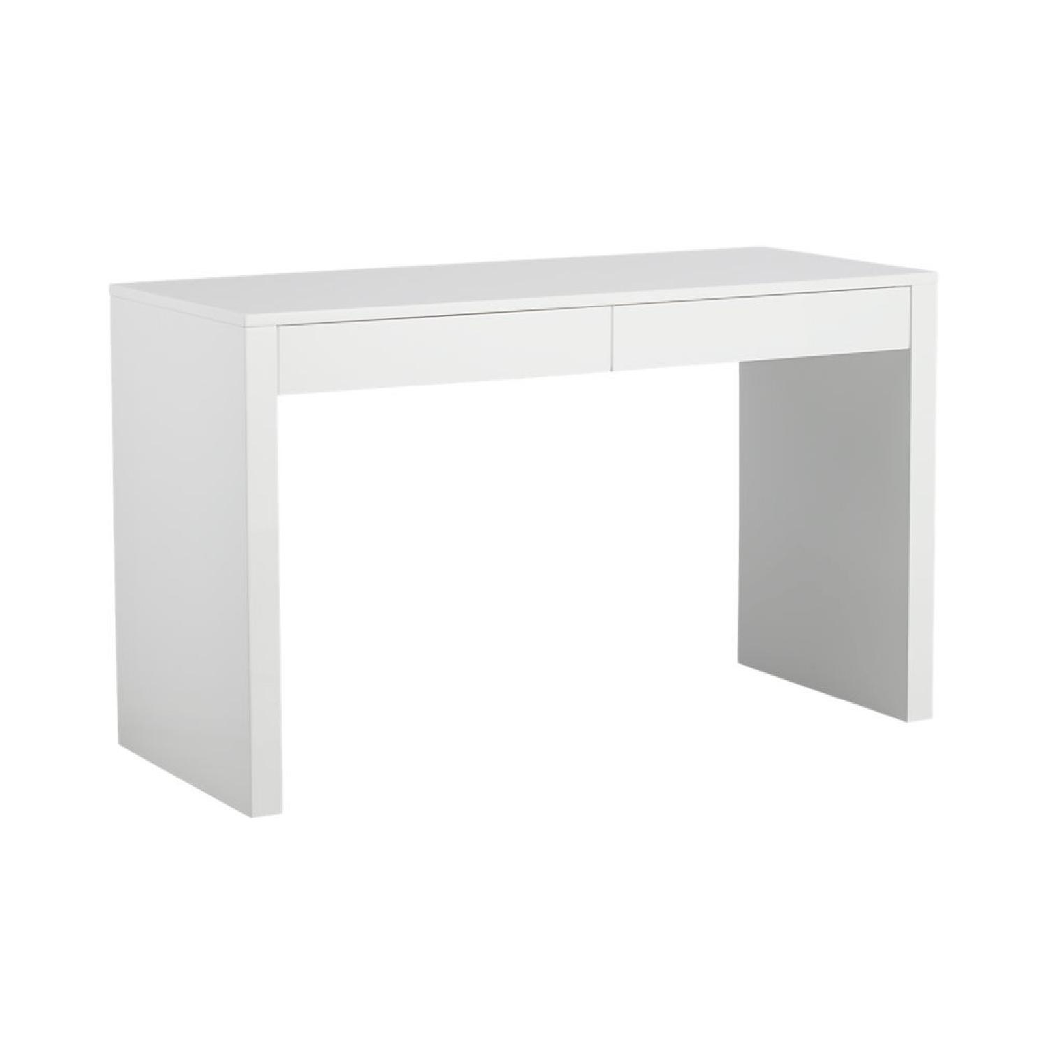 West Elm Parsons Desk White with Drawers
