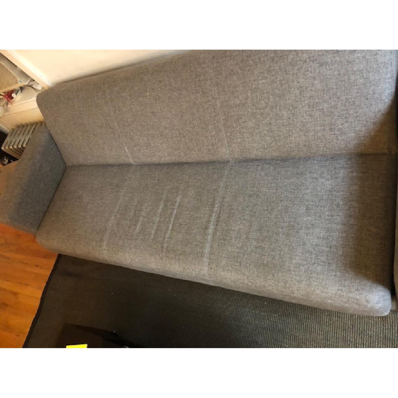 Modern Grey Convertible Sleeper Sofa w/ Storage-1