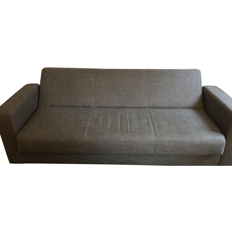Modern Grey Convertible Sleeper Sofa w/ Storage