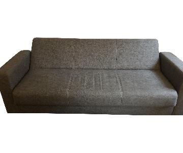 Modern Grey Convertible Sleeper Sofa w/ Storage