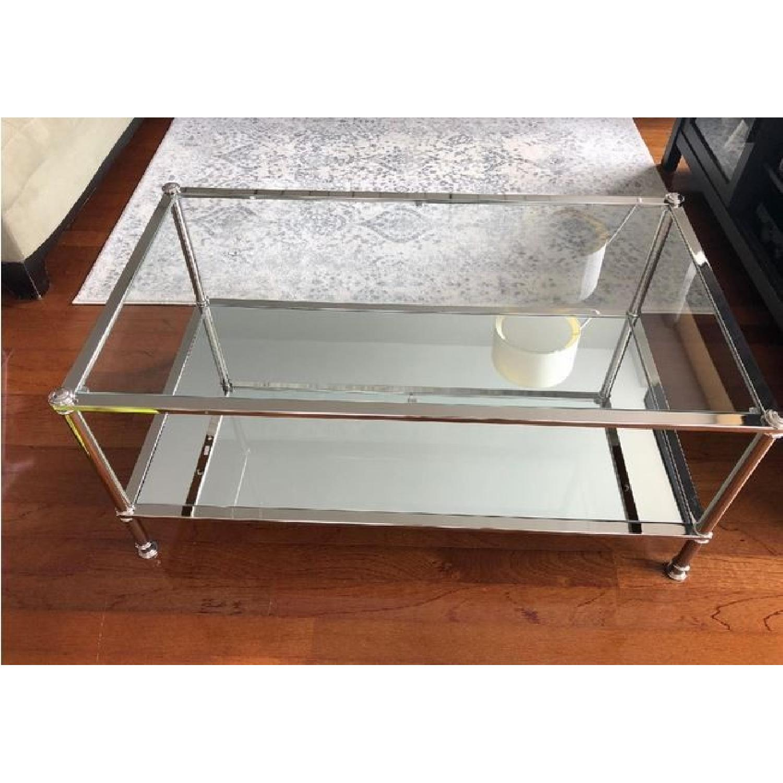 Southern Enterprises Glass Cocktail Table + 2 End Tables-0