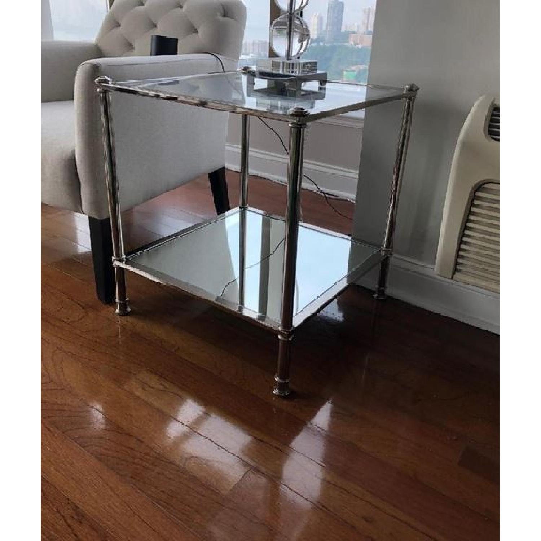 Southern Enterprises Glass Cocktail Table + 2 End Tables-1