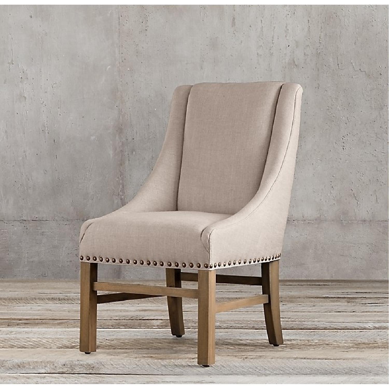 Restoration Hardware Nailhead Fabric Armchair-1