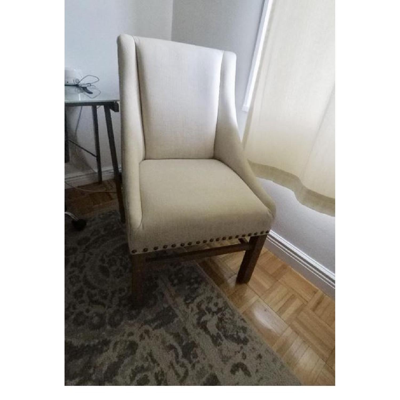 Restoration Hardware Nailhead Fabric Armchair-2