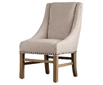 Restoration Hardware Nailhead Fabric Armchair