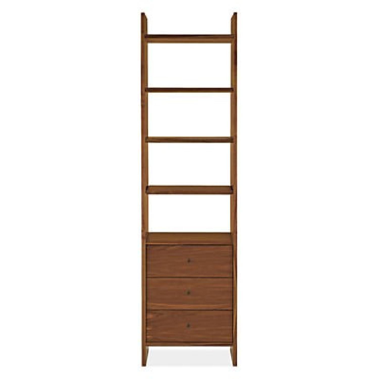 Room & Board Walnut Addison Three-Drawer Bookcase