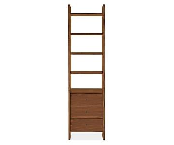 Room & Board Walnut Addison Three-Drawer Bookcase