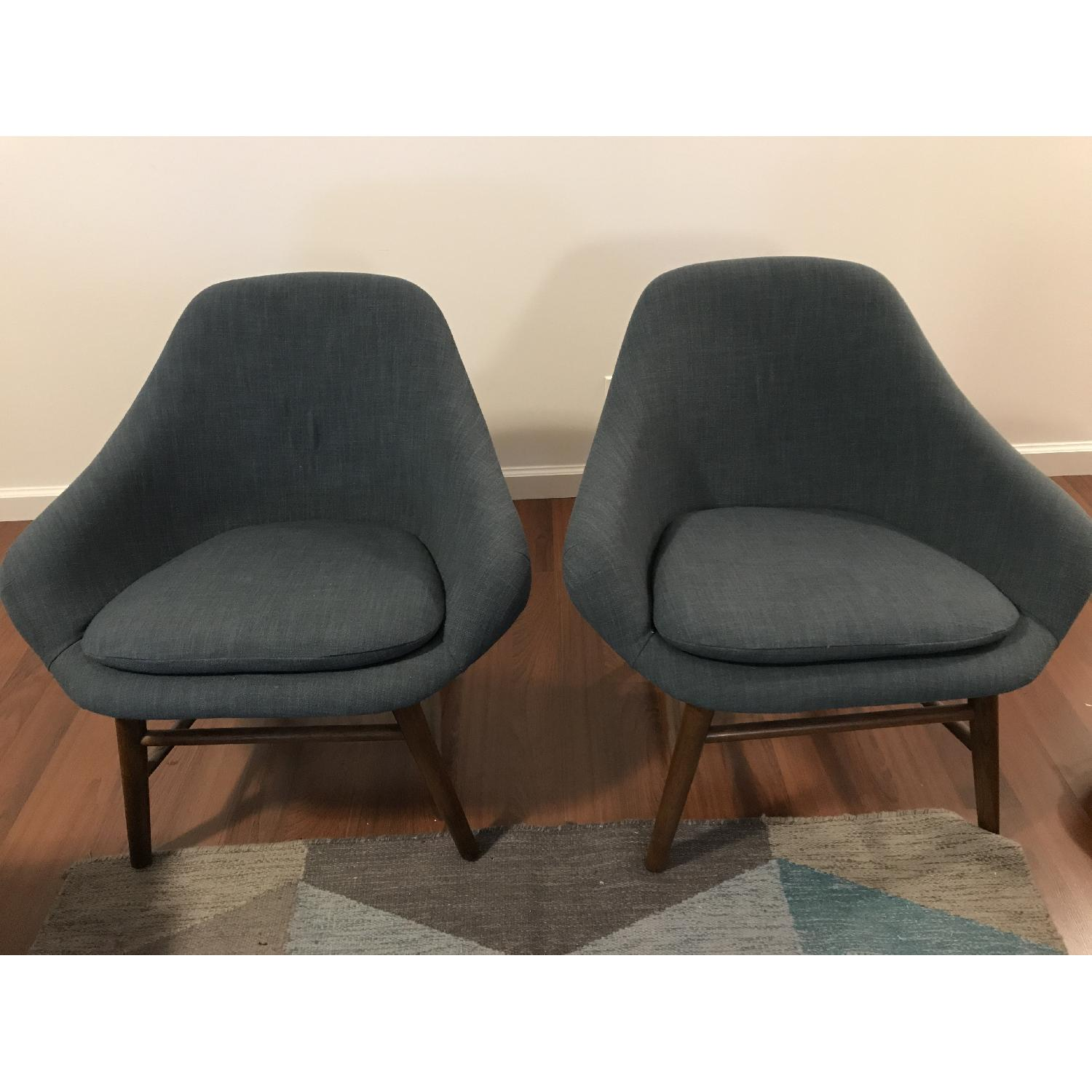 West Elm Mylo Chairs in Teal-0