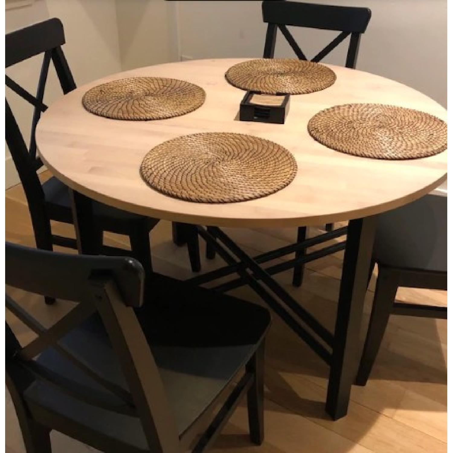 Ikea Dining Table w/ 4 Chairs-1