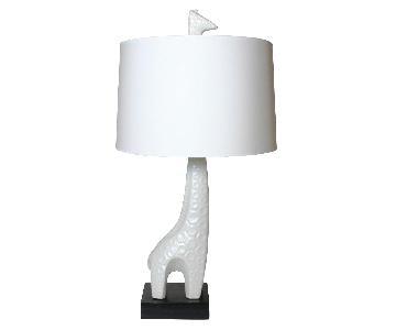 Jonathan Adler White Giraffe Lamp