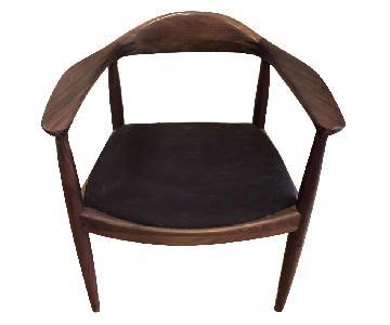 Organic Modernism Carter Arm Chair in Walnut