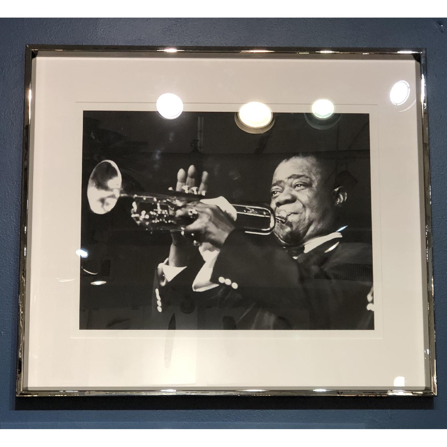 France & Son Louis Armstrong Archival Print w/ Chrome Frame-0