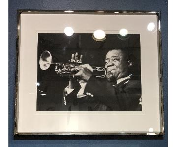 France & Son Louis Armstrong Archival Print w/ Chrome Frame
