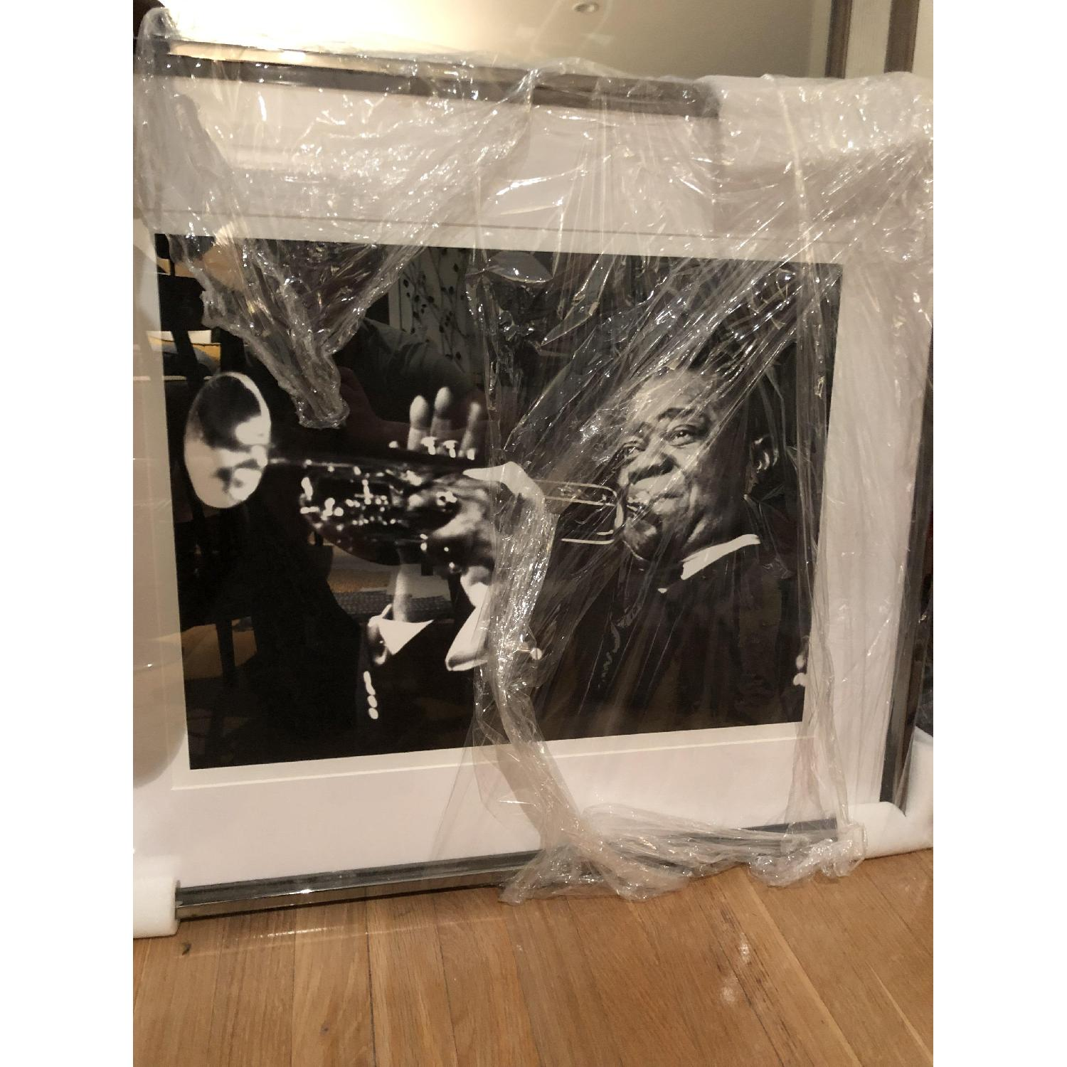 France & Son Louis Armstrong Archival Print w/ Chrome Frame-1