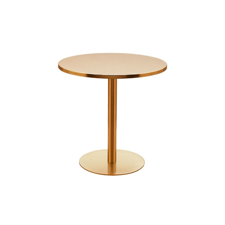 CB2 Watermark Brass Bistro Table